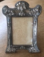 OI1079 ARTS & CRAFTS SILVER PHOTO FRAME