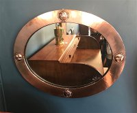 OI1062 COPPER FRAMED MIRROR LIBERTY & CO